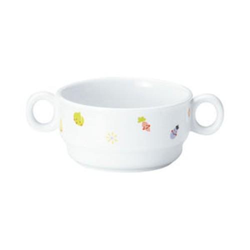 【1910-1230】強化磁器 9.7cm 両手つきカップ ぷちやさい