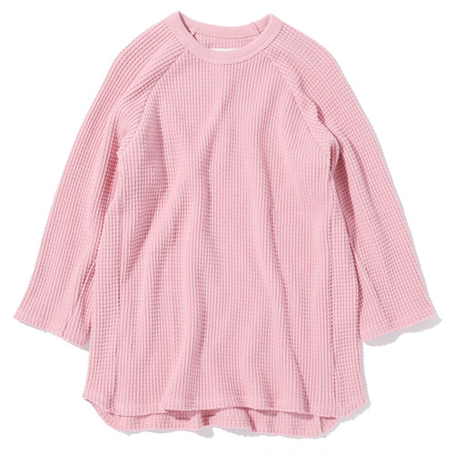 """16SS-0049 """"3/4 HEAVY THERMAL TEE"""" - PINK"""