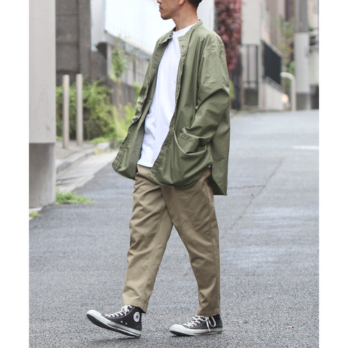 Gristone-W Cotton×Nylon Gabardine Gardening Coat Army Green