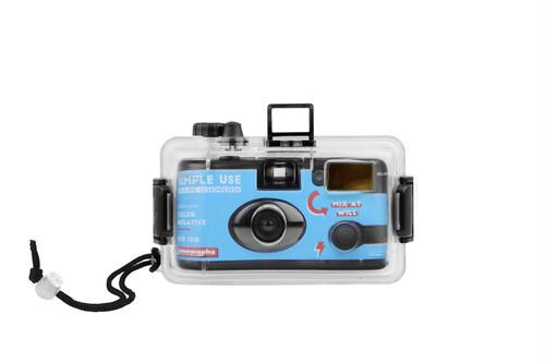 【 レンズ付きフィルム 】Lomography( ロモグラフィー )Analogue Aqua - Simple Use Camera & 防水ケース - Color Negative 400