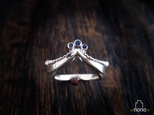 Xmasセール中!「Hahu Ring」<silver> お城の破風をデザインしたリング(シルバー)