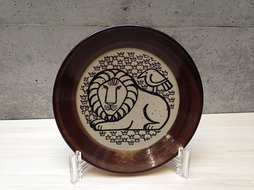 Lisa Larson / 益子の皿 (5.5寸)