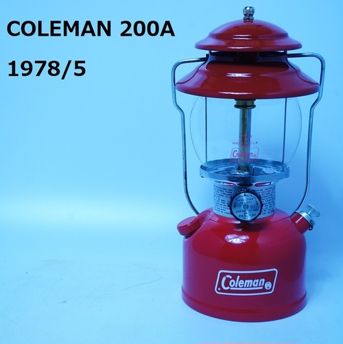 【vintage】COLEMAN 200A 1978/5 未使用品