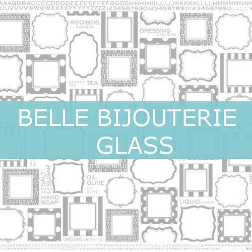 A3@1198(税別)【ガラス】 BELLE STICKERホワイト