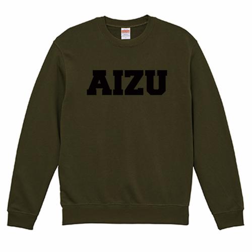 AIZU-クルーネック スウェット BASIC/オリーブ