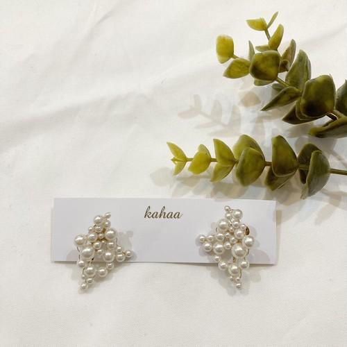 【kahaa】パールの耳飾りイヤリング