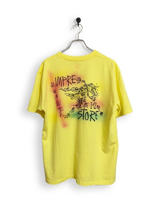 Original Short Sleeve-T / air brush /  light yellow