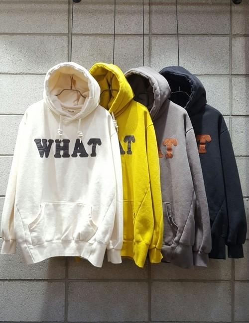 WHATフードトレーナー ★UNISEX  フードトレーナー フーディー 韓国ファッション