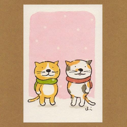 冬のポストカード[NWPC-10]マフラー