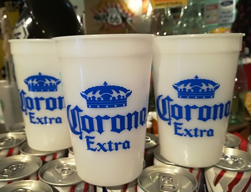 ブラックライトで光る!CORONA「コロナビール」コップ・カップ