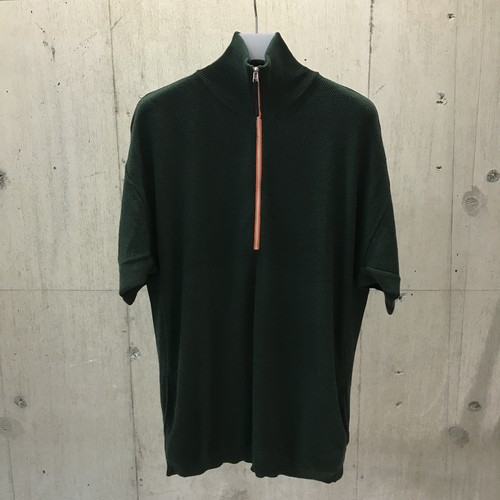 ROTOL HALF ZIP POCKET KNIT GREEN