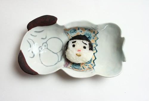 パグの皿 /犬の皿 /磁器 /陶芸 /可愛い食器 /cute ceramic /pottery