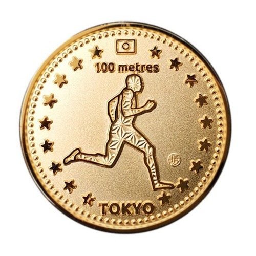 Tokyo Sports Gold Medals 100m 東京 スポーツ ゴールド コイン 100m