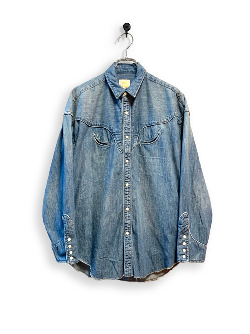 6.5oz Denim Western Shirt / special wash