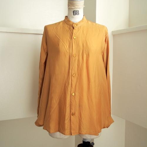 【hippiness】cupro A line shirt (151gold)/【ヒッピネス】キュプラ Aライン シャツ(151ゴールド)