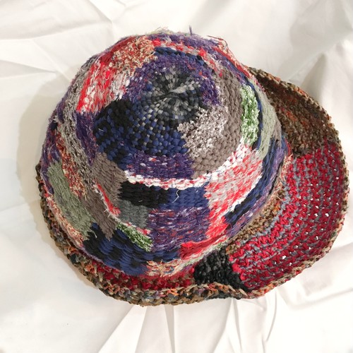 【handmadeCANAE】裂き織りハット