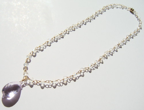 Blue Moon necklace ~Moon Series~