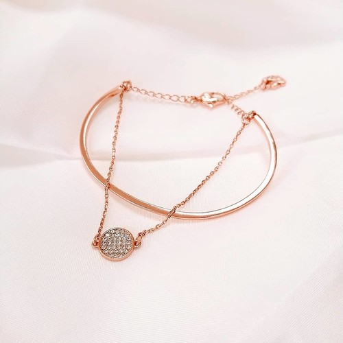 Layers bracelet[送料無料]/ピンクゴールドブレスレット