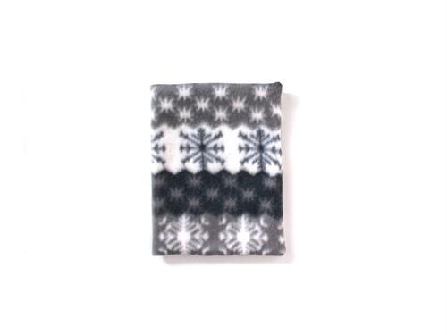 ハリちゃんのおざぶとん 雪の結晶 グレー