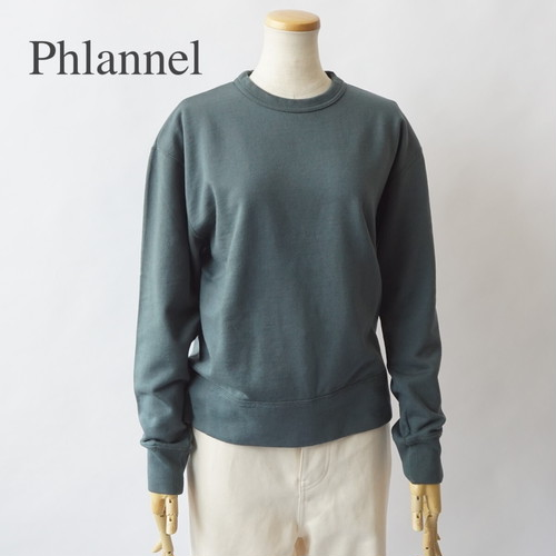 PHLANNEL SOL/フランネル・ suvin cotton sweat shirt