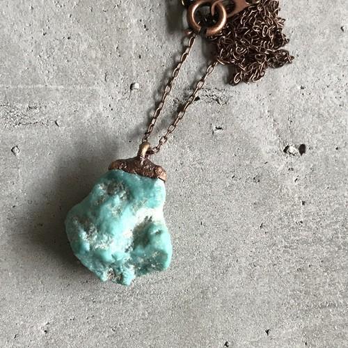 ターコイズ 原石 ペンダント ネックレス