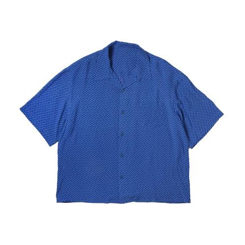 LOGO PATTERN SHIRTS / BLUE