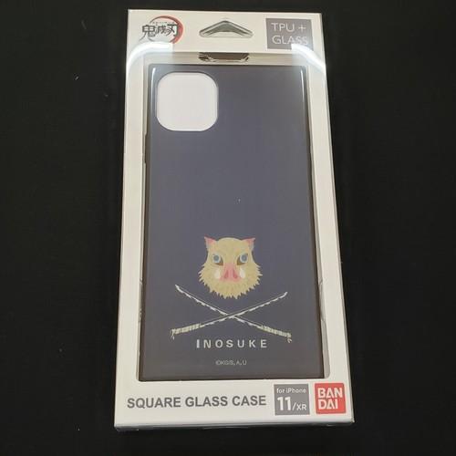 鬼滅の刃 iPhone11/XR対応スクエアガラスケース【嘴平 伊之助(はしびら いのすけ)】