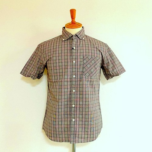Widespread BD S/S Shirts Brown Glen Check Broad
