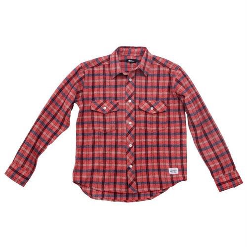 ウールシャツ:レッド
