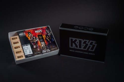KISS「限定ボトル」4本+KISS枡 5個セット オリジナルBOX付き