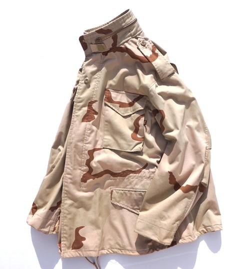 USA製 [ALPHA INDUSTRIES] M-65 フィールドジャケット デザートカモフラージュ 表記(MEDIUM-REGULAR) アルファ