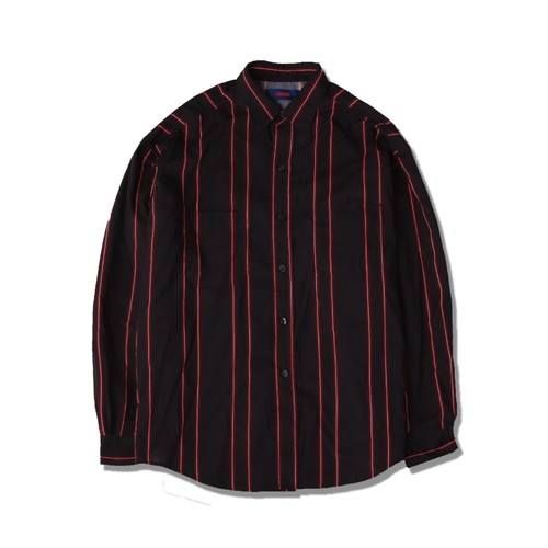 NEON STRIPE SHIRTS / BLACK