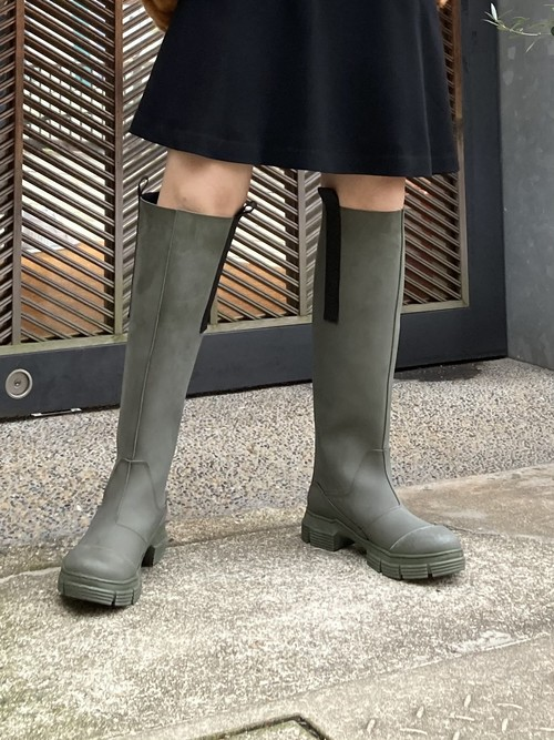 【20AW】GANNI ガニー / Recycled Rubber Long Boots