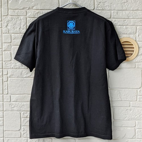 【T-Shirt】かぶら屋定番「黒T」ターコイズ