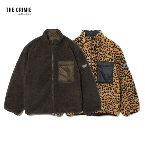 CRIMIE / CR1-02L5-JK16 / REVERSIBLE LEOPARDO BOA JACKET
