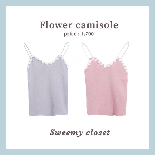 【即納】 Flower camisole