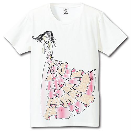 BIGプリント ファッションデザイン画Tシャツ