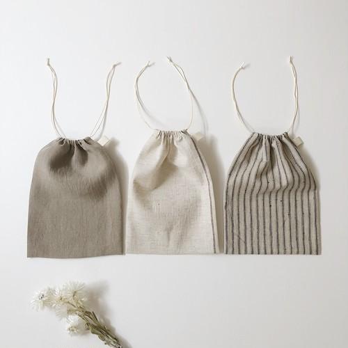 巾着袋 / M size / エプロン収納や給食袋に