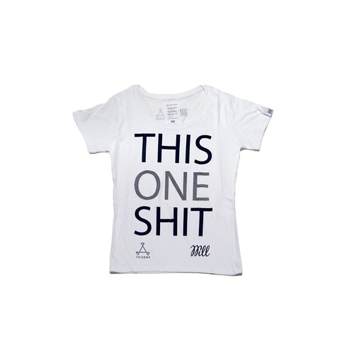 THISONE x WILL  THISONE SHIT TEE (LADIES WHITE)