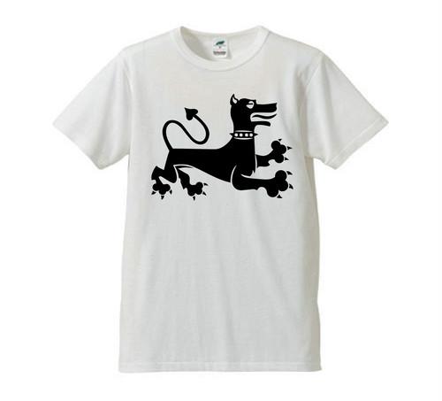 DOBERMAN 表DOG/裏ロゴ Tシャツ(ホワイト)