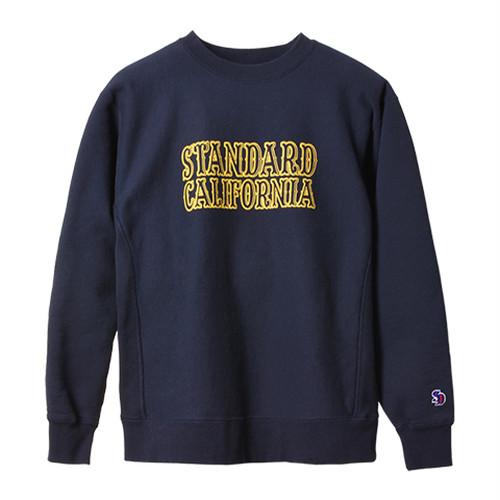 STANDARD CALIFORNIA #SD R.W. Logo Sweat Navy