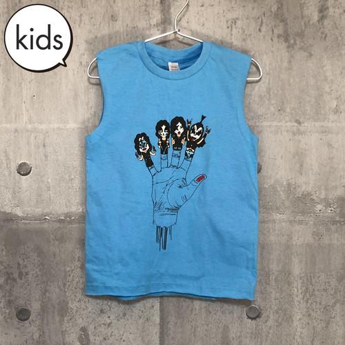 【送料無料 / ロック バンド タンクトップ】 KISS / Finger Puppet Kids Tank Top L キッス / 指人形 キッズ タンクトップ L