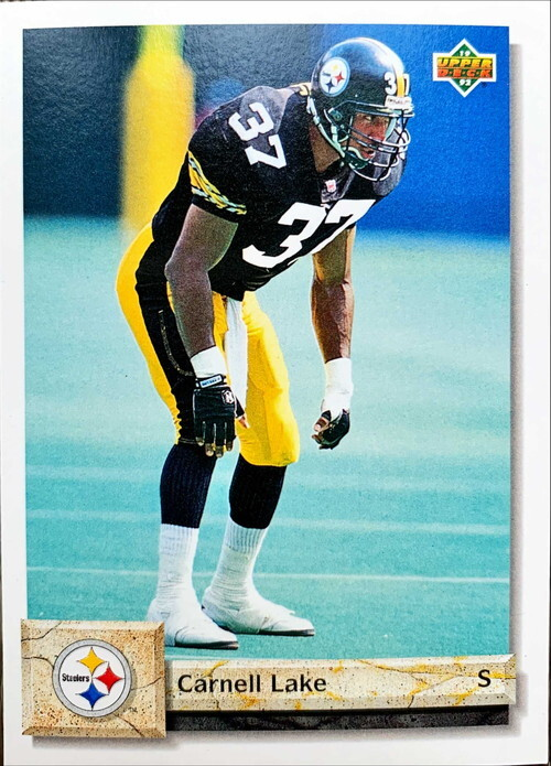 NFLカード 92UPPERDECK CARNELL LAKE #487 STEELERS