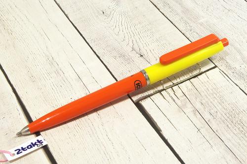 【Vintage/Used品】 ハンガリー ボールペン ICO  MÉDIA オレンジ×イエロー/ 0003