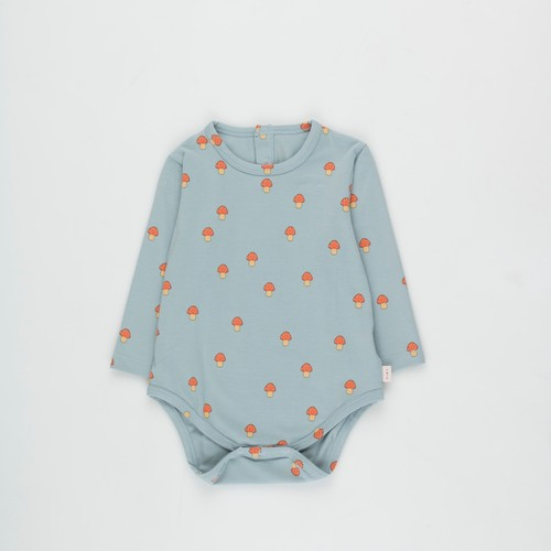 《TINYCOTTONS 2020AW》MUSHROOMS BODY / warm grey × red