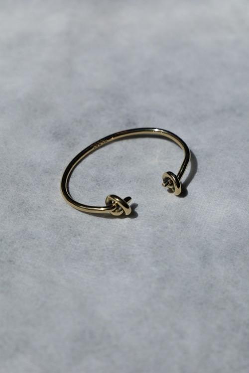 """MORSE"" Knot Brass bangle"