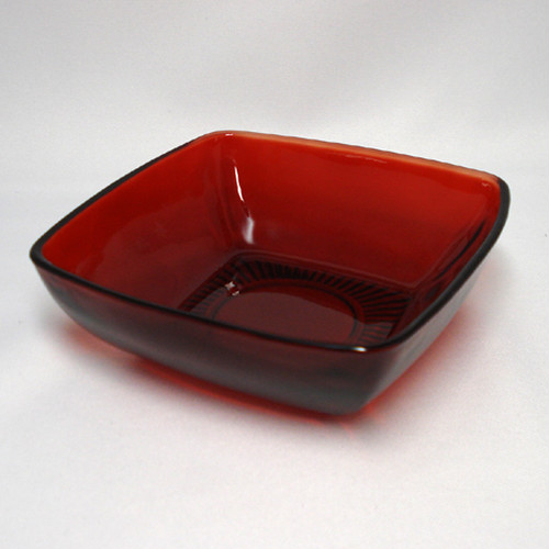 "FireKing Royal Ruby ""Charm""(Dessert Bowl)(FK-10075)"