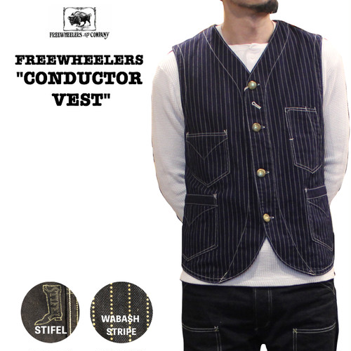 "FREEWHEELERS / フリーホイーラーズ  定番 UNION SPECIAL OVERALLS ""CONDUCTOR VEST"""