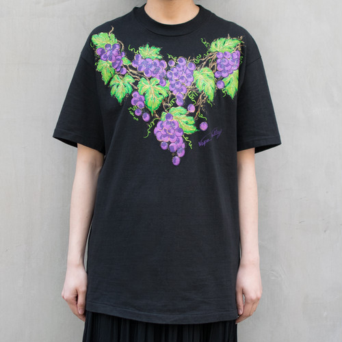 """Made in USA"" Grape Print Tee"