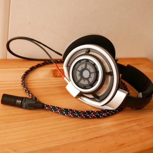 【受注製作納期約1週間】HD800用 オリジナルケーブル VIABLUE/XLR4pinバランス